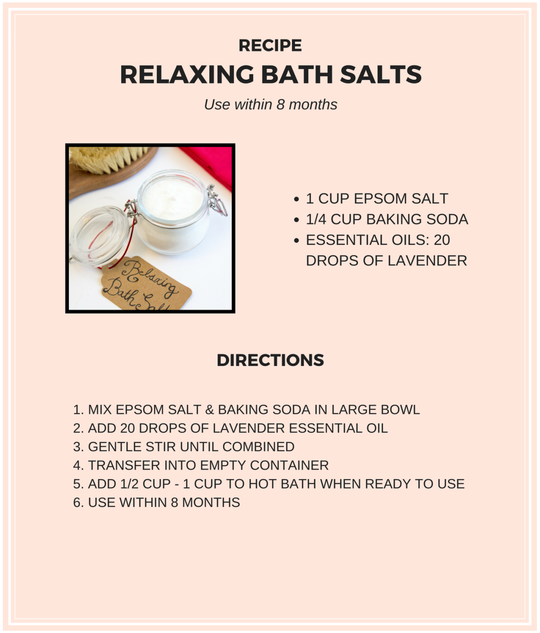 christmas gift idea easy diy relaxing bath salts recipe