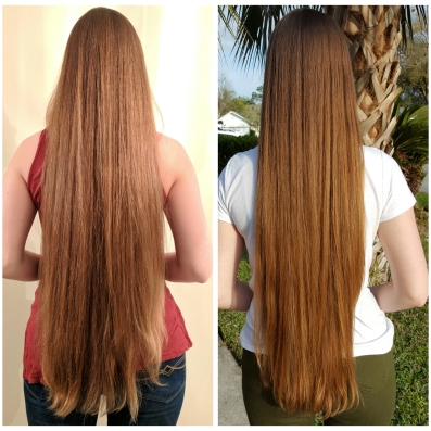 girl with long brown hair, grow hair fast with natural and organic hair products, long hair routine, the innate life