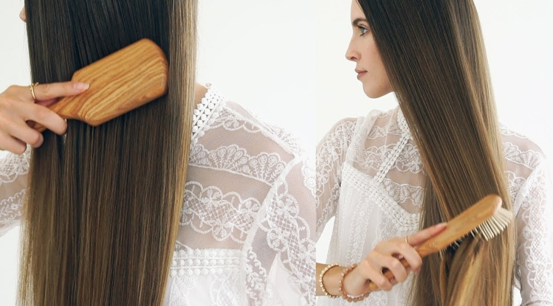 holistic habits, long hair, wooden brushes, best wooden brush, brush for hair growth, healthy hair